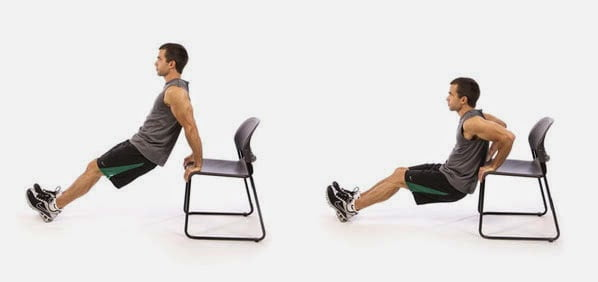 Chair Dips Home Workout